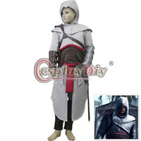 assassins creed altair costume - Assassins Creed Altair Ibn La Ahad Kids Child Boy Cosplay Costume Halloween Custom Made High Quality Fancy Dress