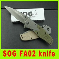 cooler pack - Utility knife SOG FA02 Fast open knife Outdoor survival Rescue folding knife New in original box packing cool gift L