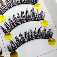 Wholesale New Arrivals Pairs as a set Natural Long Black False Lashes Handmade Thick Makeup Fake Eyelashes T225