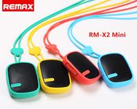 achat en gros de bon lecteur mp3-REMAX RM-X2 Mini Haut-Parleur Portable Bluetooth Avec Subwoofer Radio FM Mains-libres Pour Téléphone / Lecteur Mp3 bonne quaity