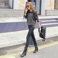Cheap Hot 2015 Casual Women Lace Full Sleeve Chiffon Blouses Top Gorgeous Shirts Embroidery Blusas Femininas O Neck Blouse Shirt