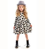Wholesale New European American Style Girl Long Dresses Baby Cotton Stretch Black Cat Pattern Dress Children Kids Clothes