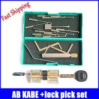 ab locks - AB kaba transparent practice lock with lock pick picking professional locksmith supplies lock picks set