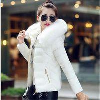 Wholesale Lowest price New design color Winter Coat Women raccoon Fur Collar Warm Winter jacket Woman Outerwear Parkas Down Jacket