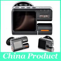 Videocámara dual de la lente i1000 coche DVR de doble cámara de HD 720P Dash Cam Box Negro Con trasero 2 Cam Ver Vehículo Dashboard Cámaras 002780