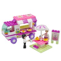 Wholesale 2015 JLB B0155 Educational Snack Car Model Building Blocks Sets Model Minifigures Bricks Toys for Children