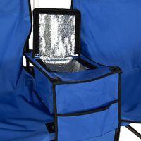 beach umbrella table - Fold Up Beach Camping Chair Picnic Double Folding Chair Umbrella Table Cooler