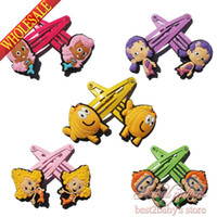 Wholesale Hot New Lovely pairs Bubble Guppies Accessories Hairpins Elastic Hair Bands Girls Hair Accessories Girls Hair Clips Headwear Kids Gifts