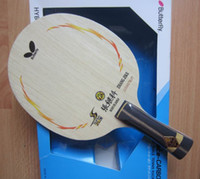 Wholesale Butterfly zhang jike SUPER ZLC table tennis blade FL table tennis racket long handle racquet sports indoor sports