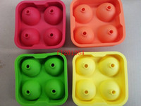 Wholesale 150sets Bar Drink Whiskey Sphere Big Round Ball Ice Brick Cube Maker Tray Mold Mould Tool