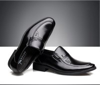 Wholesale In the autumn of men leather men s shoes business dress shoes slip on round head single shoes
