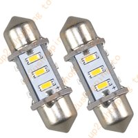 Wholesale 10x MM quot Warm White LED Dome Festoon Bulb SMD License Plate Light for