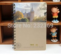 Wholesale Blank Diaries Journals notebook note book Rollover coil A5 portable free mail