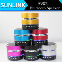 Wholesale S902 Mini Bluetooth Speaker LED Flash Handsfree Wireless Stereo Speakers TF Card for iPhone S6 Note4 S901 S903 S905 S906 S907 S909