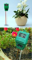 Wholesale in1 Plant Flowers Soil PH Tester Moisture Light Meter Hydroponics Analyzer Soil PH tester