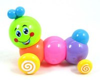 Wholesale 2015 Lovely Clockwork Toys Baby Educational Toys for Children Plastic Colorful Caterpillar Wind up Toys Pieces