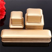 Wholesale PU Leather Tyrant Gold Jewelry Box For Rings Necklaces Bracelets Watch Packaging Display Box Jewelry Set Display Box
