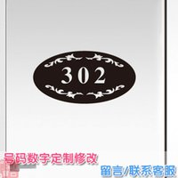 apartment wall - Custom ordered room number digit house number dormitory wall stickers decorative door stickers Bedroom Apartment Hotel