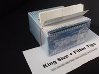 Wholesale 1 Box Moon Blue Rolling Paper with Filter Tips Long size discount now