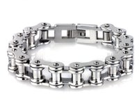 bicycle jewellery - PUNK Biker L Titanium STAINLESS Steel Mens Bracelet Fashion Jewelry Bike Bicycle Chain bangle Bracelet Jewellery