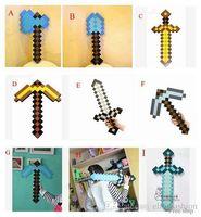 weapon - Minecraft Sword Minecraft Foam Diamond Sword and Pickaxe Combo Set weapons EVA axe Foam Diamond Styles Free EMS