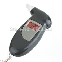 Wholesale Fedex KeyChain LCD Screen Digital Alcohol Tester Breathalyzer Alcohol Breath Analyzer