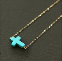 acrylic furniture offers - 2015 Special Offer Patio Furniture Wicker Trade Suit Small Accessories Fashion Street Shoot Simple Cross Necklace Turquoise Bracelet C1286