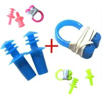 Wholesale Pool Accessories High quality Swimming Set Waterproof PVC Nose Clip Earplugs Color Random