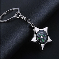 Wholesale 2016 Hot Lovers Key Ring Multi function Compass Keychains Silver Plated Creative Bat Car Phone Keyfob Sweet Christmas valentines day Gifts