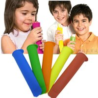 Cheap Colorful Silicone Push Up Ice Cream Jelly Lolly Pop Maker Popsicle Mould Mold 200pcs free shipping