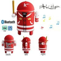 baseballs speaker - 2015 creative Cartoon Mini Bluetooth Wireless Baseball Robot Speaker FM Radio USB TF MP3 Player for iphone6S s Samsung note5 S6 HTC