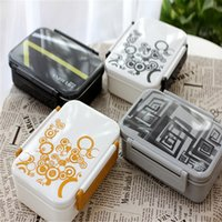 plastic lunch box - Fun Life Bento lunch box European single simple lunch boxes student lunch boxes microwave plastic food containers AB0080