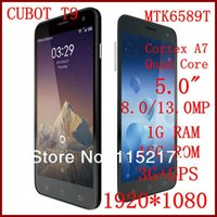 """Cheap CUBOT T9 Android 3G Smartphone 5"""" FHD 1080P IPS OGS MTK6589T Cortex A7 Quad Core 1.5GHz 8MP 13MP 1GB+16GB Gyroscope 3G GPS phone"""