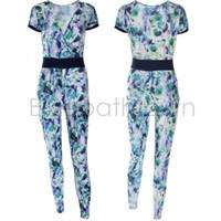 Cheap 2015 Fashion Macaquinho Jumpsuit Women Long Pants Suit Playsuit Bodysuit Flower Floral Print Jumpsuits Overalls For Women 50