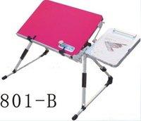 Wholesale retail folding aluminum alloy laptop desk adjustable height laptop desk portable laptop table notebook desk