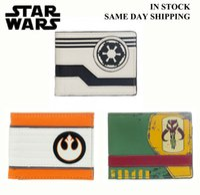 Wholesale star wars wallet Mandalorian Rebel Allianc Galactic Empire luxury wallet casual short designer card holder wallets for men star wars wallet
