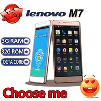 Wholesale DHL shipping listing Original Lenovo m7 Quad Core Cell phone MTK6582 GHz quot HD x720 Android GB RAM GB Dual SIM Smartphone