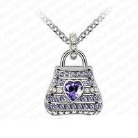 ameri bag - Factory Beloved bag Korean manufacturers crystal pendant pendant necklace short section of high end European and Ameri