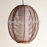rattan - Bamboo and rattan wood knitted pendant light lamp lights rattan crafts of modern chinese style decoration lamp
