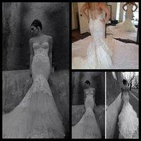 inbal dror - 2015 Vintage Inbal Dror Mermaid Sweetheart Church Wedding Long Length Sweep Train Tulle Lace Vintage Wedding Dresses