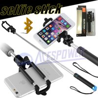 Wholesale Extendable Folding Bluetooth Self Selfie Stick Monopod For Samsung Galaxy S7 note5 Iphone S Plus Selfies Selfiepod With Retail Package