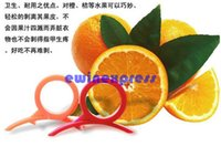 Wholesale New Creative Plastic Orange Lemon Citrus Peelers Easy Slicer Cutter Skin Remover kitchen gadget tools