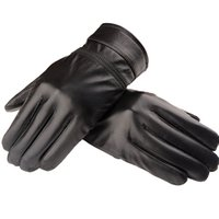 Wholesale Cool Mens Leather Gloves - Wholesale-2015 New Arrival Luxury Mens Genuine Leather Autumn Winter Warm Velvet Lining Motor Cool Gloves M L XL LG023