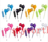 Wholesale universal Headphones Earphones HA FR6 earphone Plus in ear headphones with comfortable fit sound isolation with mic for iphone