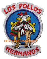bad gifts - 5 quot BREAKING BAD TV Series LOS POLLOS HERMANOS Uniform Costume Movie TV Uniform Embroidered Iron On Patch x mas gift Goth Punk Rockabilly