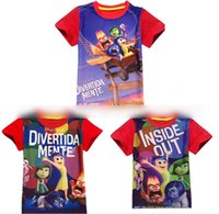 baby inside t shirt - Fashion Cartoon Inside Out Baby Boys Girls Short Sleeve T shirt O neck Tops Summer Brand Kids Clothes Cotton Clothing Red K4359