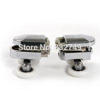Wholesale Bathroom glass door mounted roller order lt no track