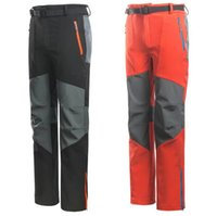 Wholesale 2016 New mammoth Brand Outdoor Pants Men Hiking Camping Softshell Pants Waterproof Windproof Thermal For Hiking Camping Ski