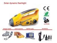 dynamo emergency light radio - Multi function solar dynamo torch w hand crank torch light led emergency light alarm Camping lamp LED Radio FM Flashlight The charger