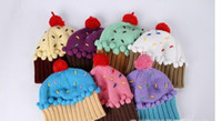 Wholesale 2015 Newest Neff Women s Cupcake Beanie Hat Winter hat Lovely cupcakes modelling children embroidery cake ice cream hat L